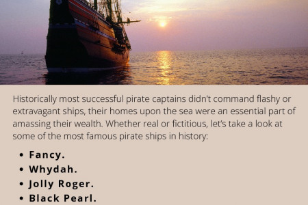 Famous Pirate Ships in History Infographic