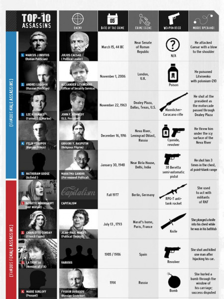 Famous Real Life Assassins  Infographic