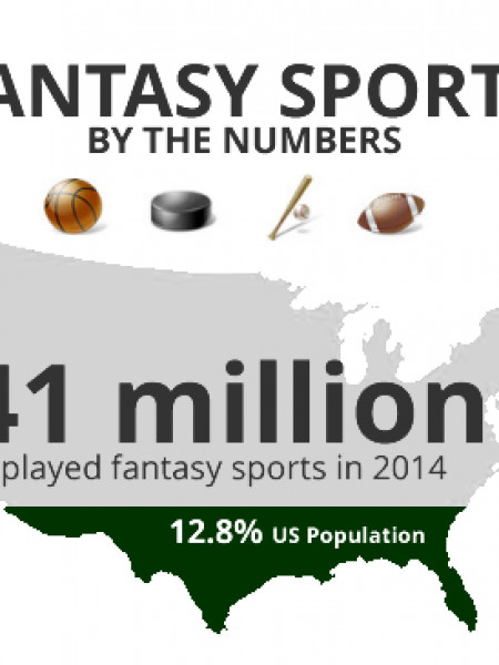 Fantasy Sports by the Numbers Infographic