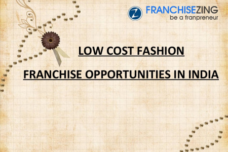 Fashion Industry Franchise Opportunities in India Infographic