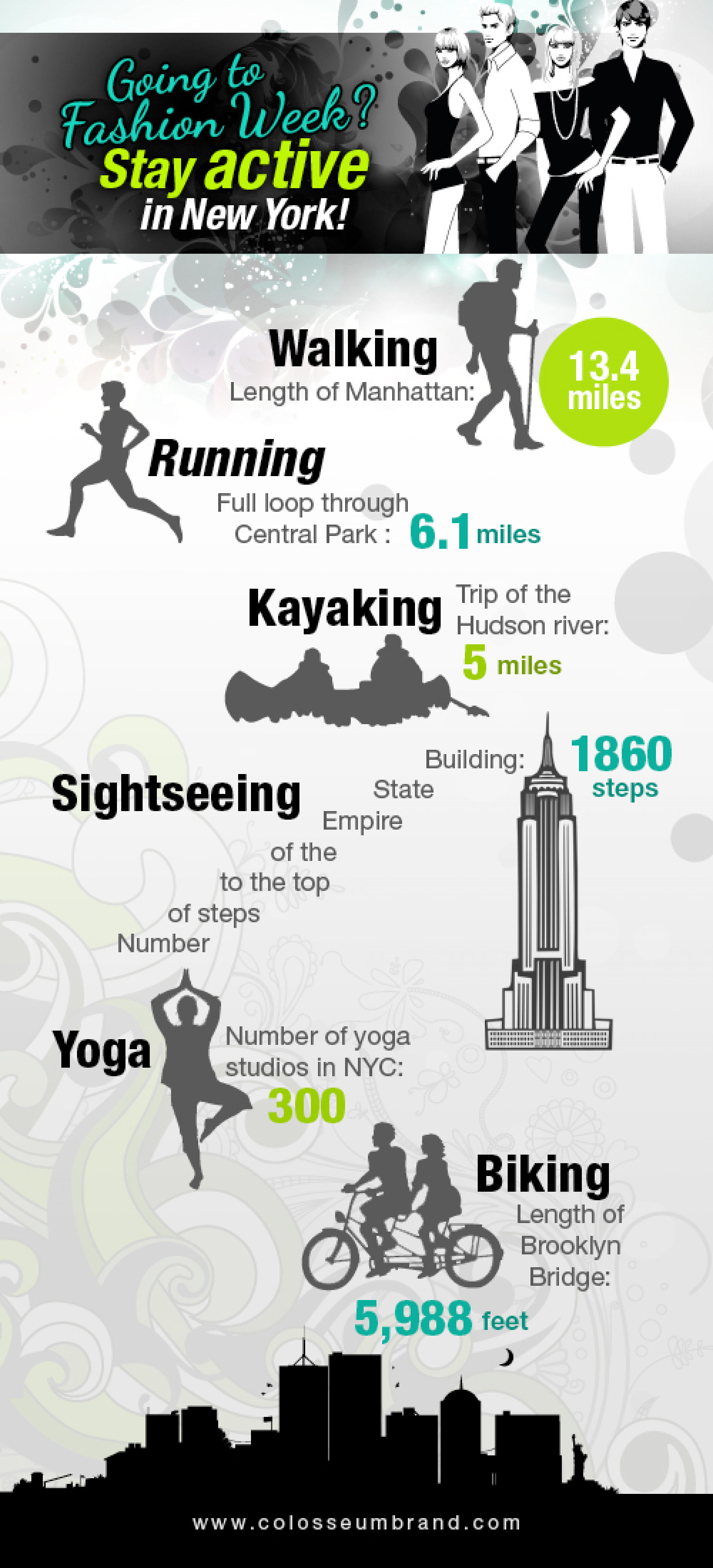 Fashion Week Fitness Infographic