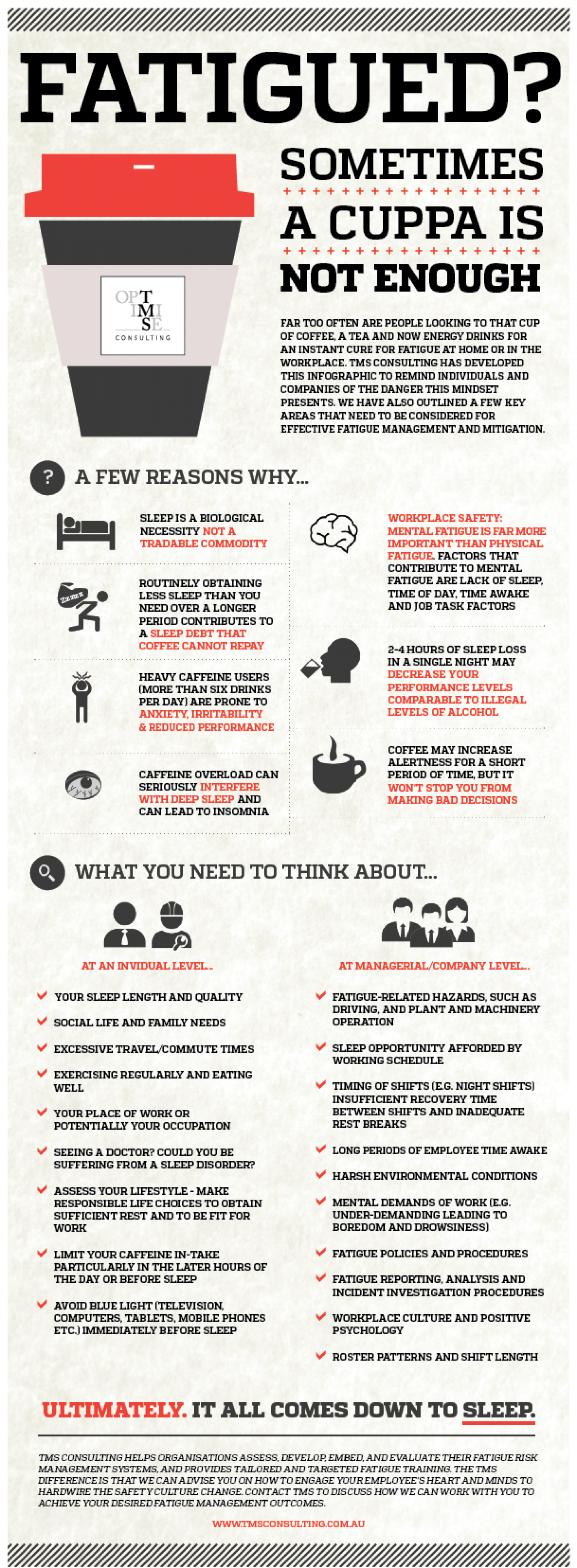 Fatigued? Sometimes a cuppa is not enough... Infographic