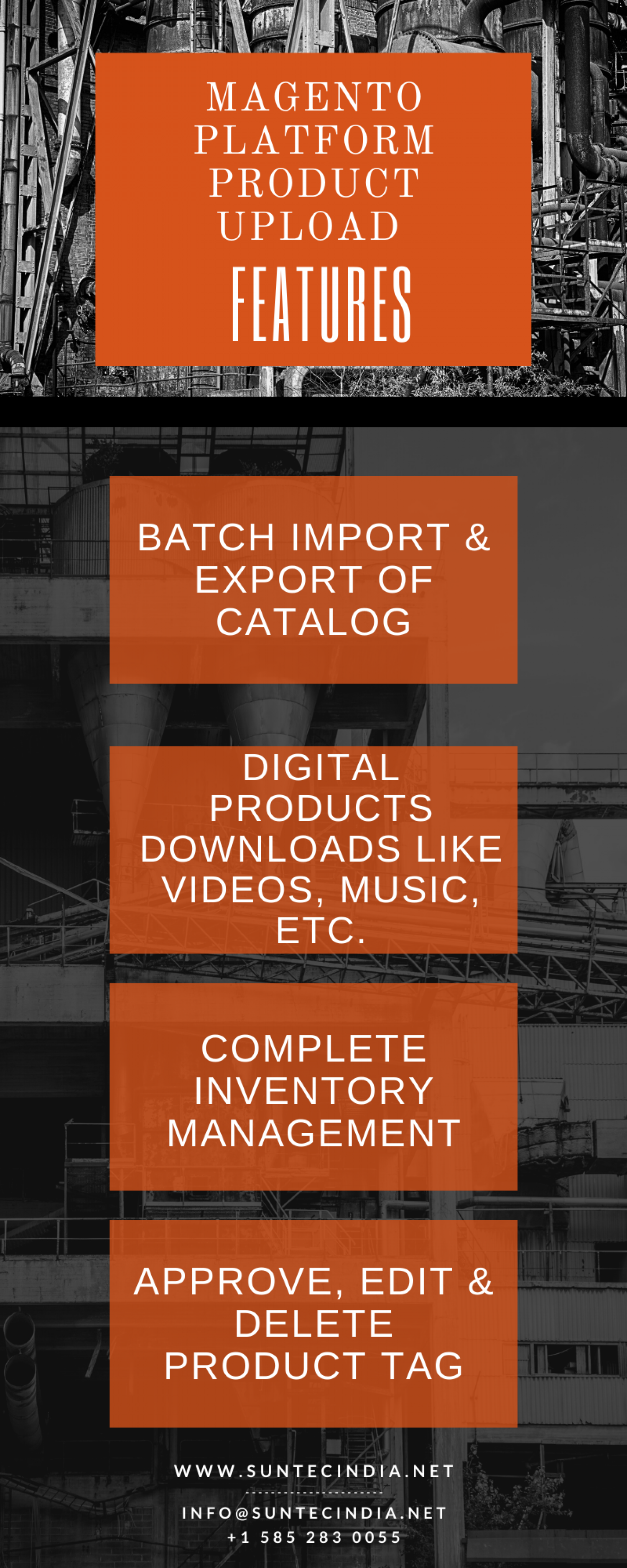 Features of Magento Platform Product Data Entry for Your eCommerce Infographic