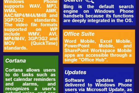 Features of Windows Phone Infographic