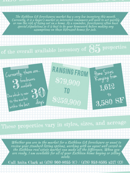 Foreclosures in Kathleen GA February 2014 Infographic
