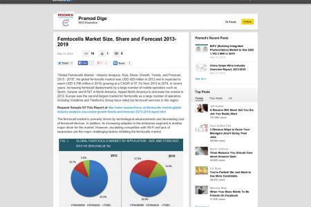 Femtocells Market - Global Industry Analysis, Size, Share, Growth, Trends and Forecast, 2013 - 2019 Infographic