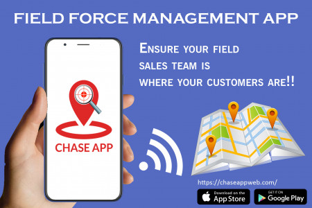 Field force tracking app Infographic