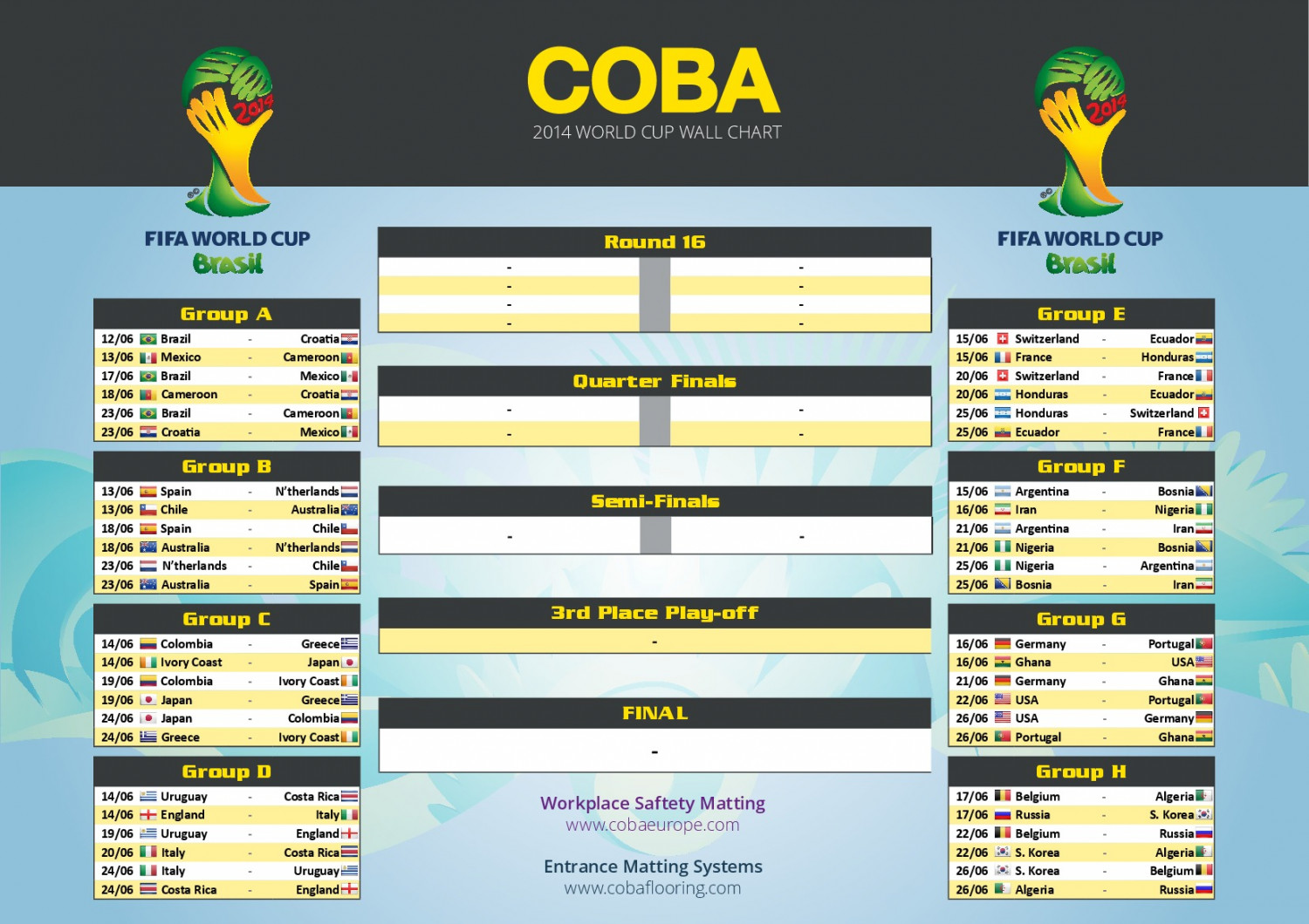 FIFA World Cup 2014 Chart Infographic