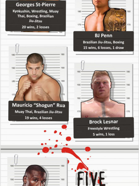 Fight Night:  Boxing vs. MMA Infographic