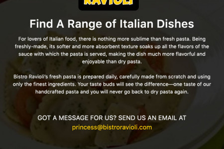 Find A Range of Italian Dishes Infographic