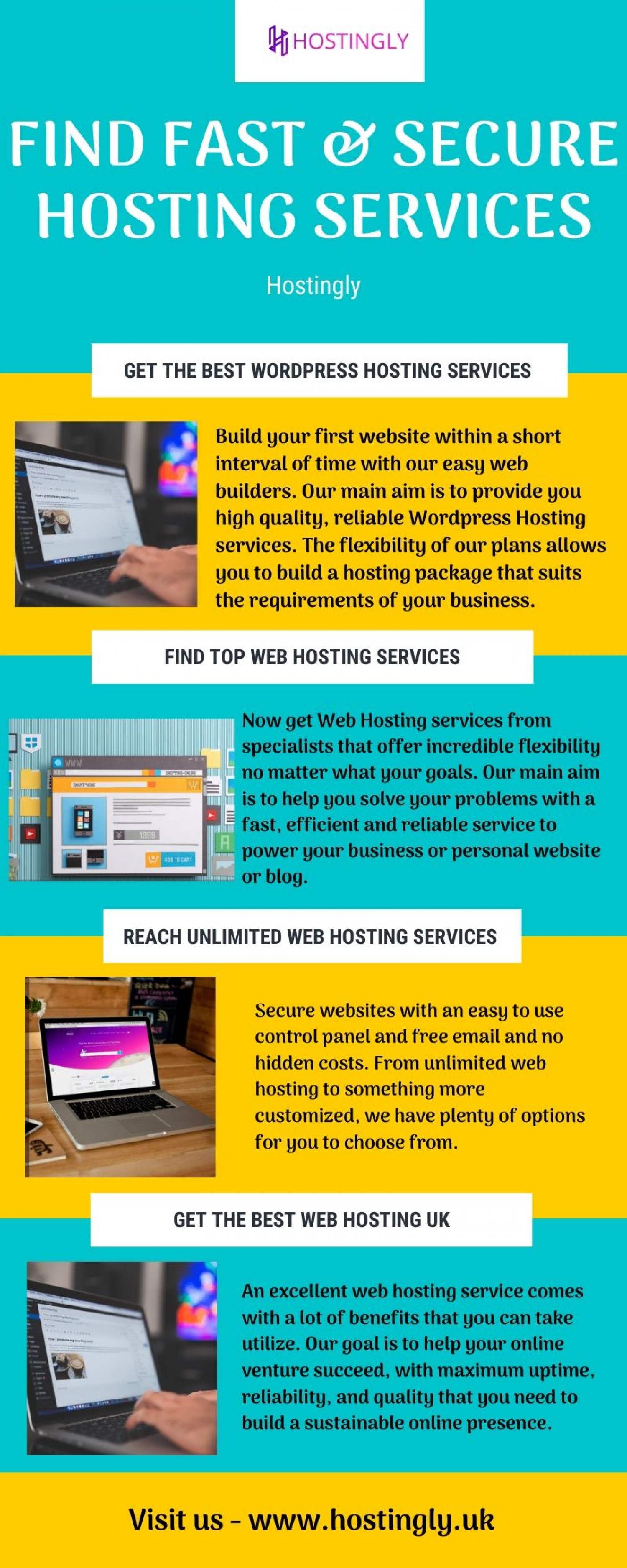 Find fast and secure hosting services in the UK Infographic