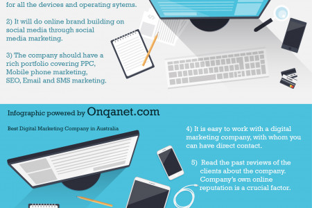 Find good Digital Marketing companies Australia by Onqanet Infographic