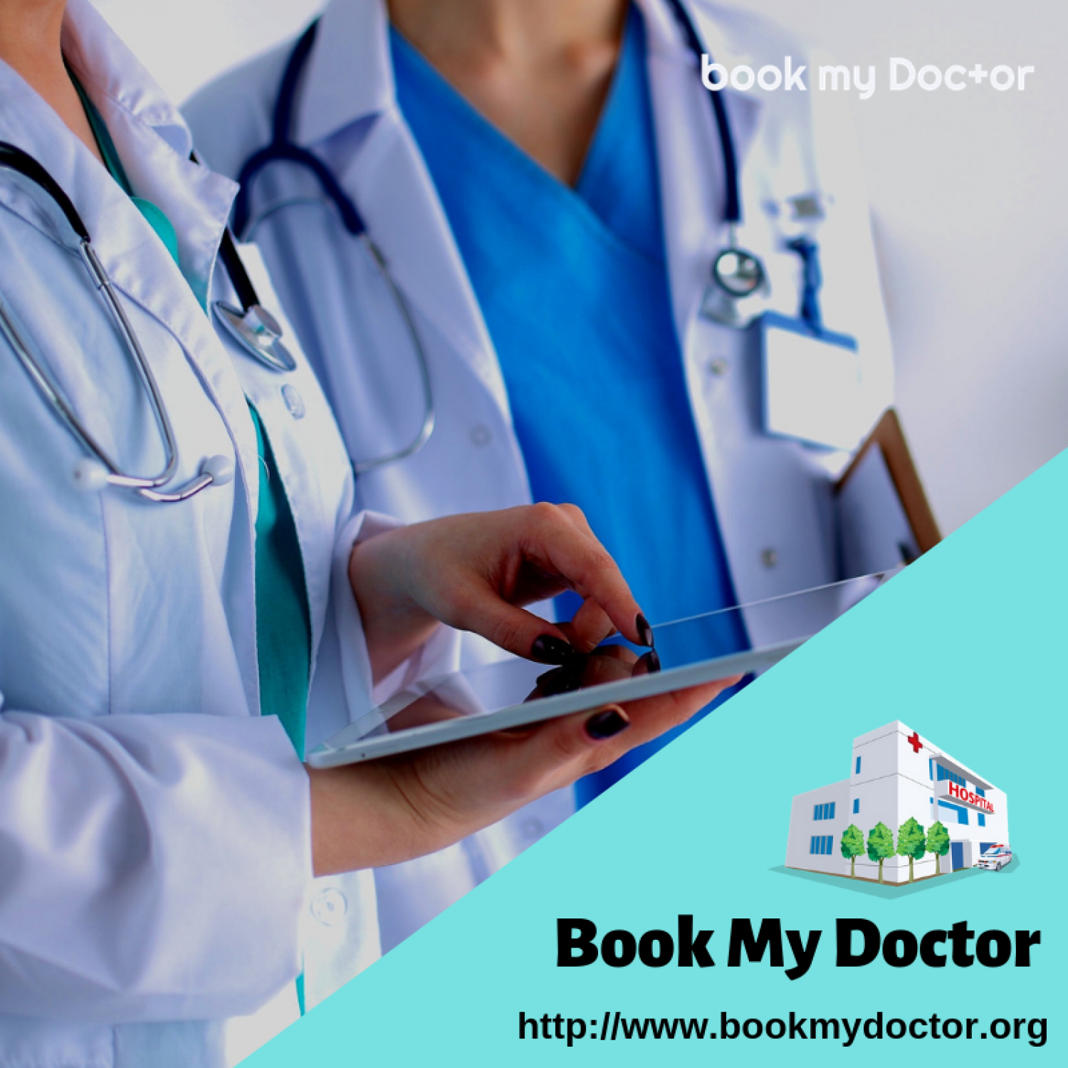 Find Nearby Hospitals & Book Doctor Appointments Online Infographic