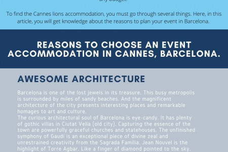 Find the Accommodation for International Advertising Festival Infographic