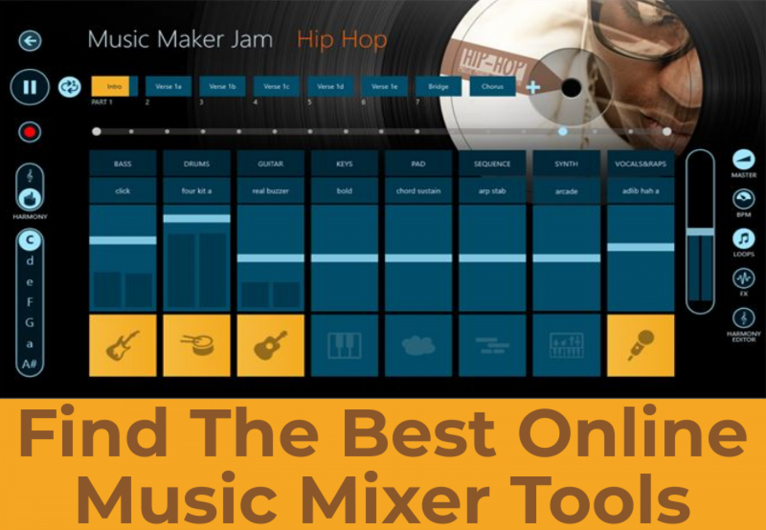 Find The Best Online Music Mixer Tools - SnapJam Infographic