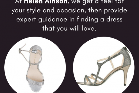 Find the Designer Evening Shoes for Women at Helen Ainson Infographic