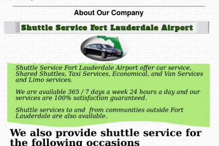 Finding an Airport Shuttle Service that covers all the areas in a city Infographic