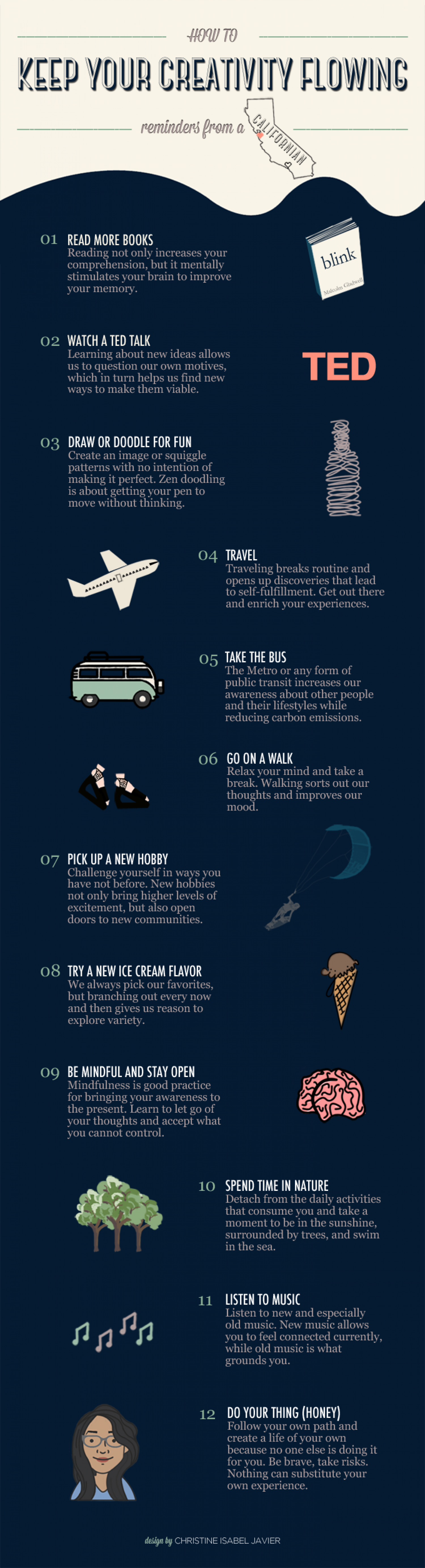 How To Keep Your Creativity Flowing Infographic