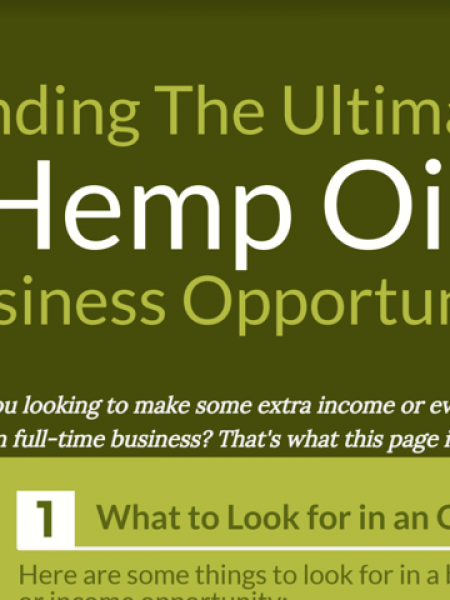 Finding The Ultimate Hemp Oil Business Opportunity Infographic