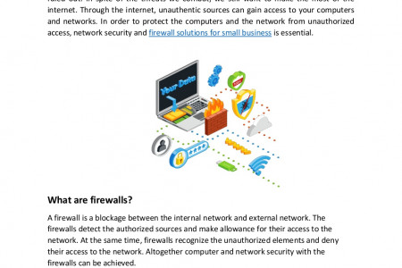 Firewall Network Security Protection for Computers and Networks Infographic