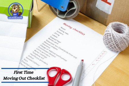 First Time Moving Out Checklist Infographic