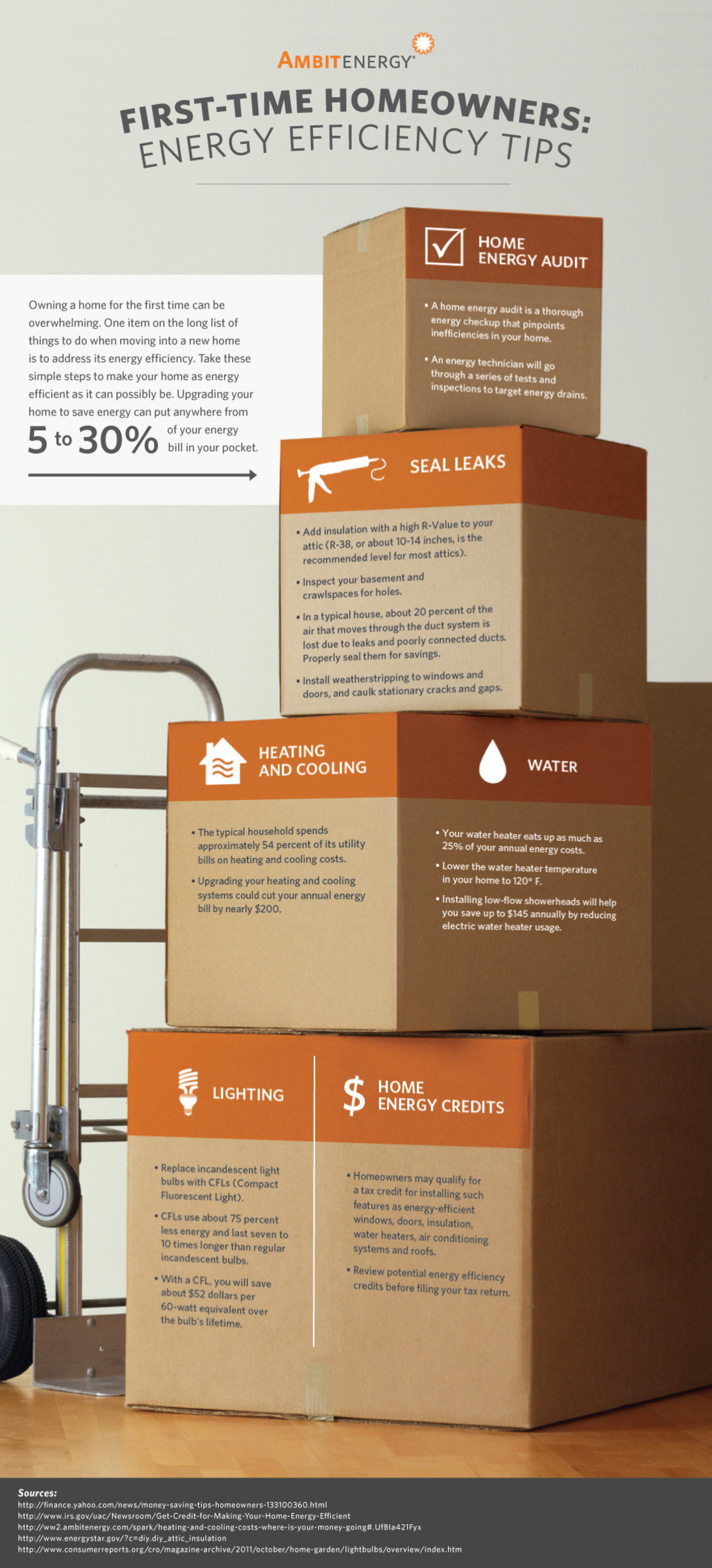 First-Time Homeowners: Energy Efficiency Tips for Extra Savings Infographic