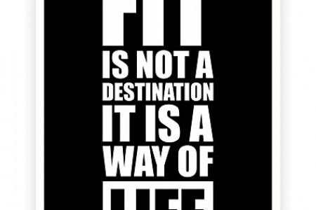 Fit Is Not a Destination Infographic