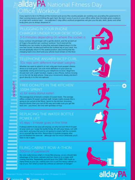 Fitness in the office Infographic