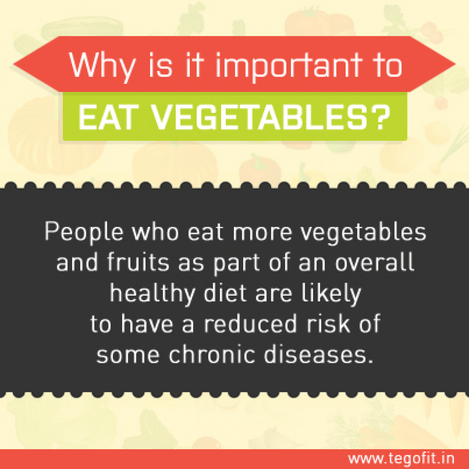 Why it is Important to Eat Vegetables Infographic