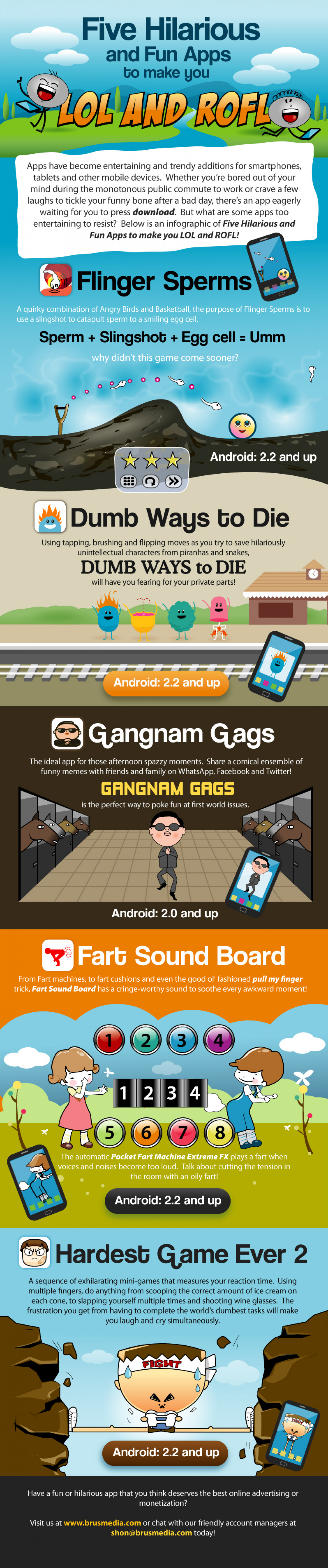 Five Hilarious and Fun Apps to Make You LOL and ROFL Infographic