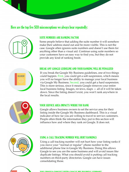 Five Local SEO Myths and Misconceptions Infographic