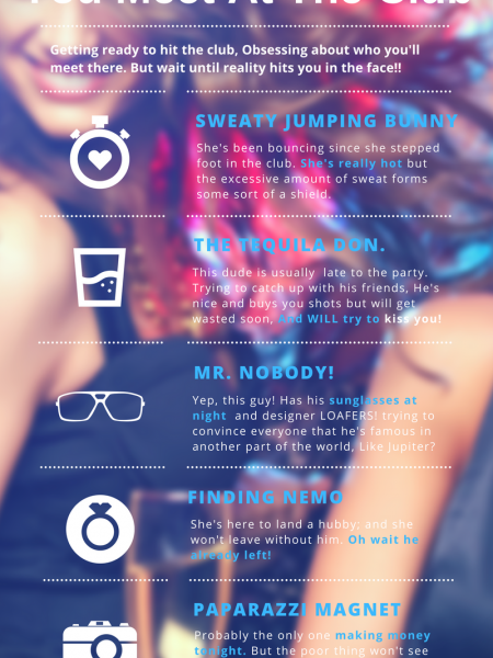Five People You Meet At The Club - www.NoQue.com Infographic