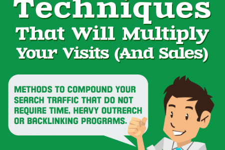 Five Simple SEO Techniques That Multiply Traffic and Sales Infographic