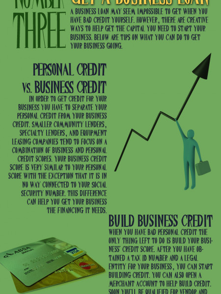 Five Things a Person with Bad Credit can Still Do Infographic