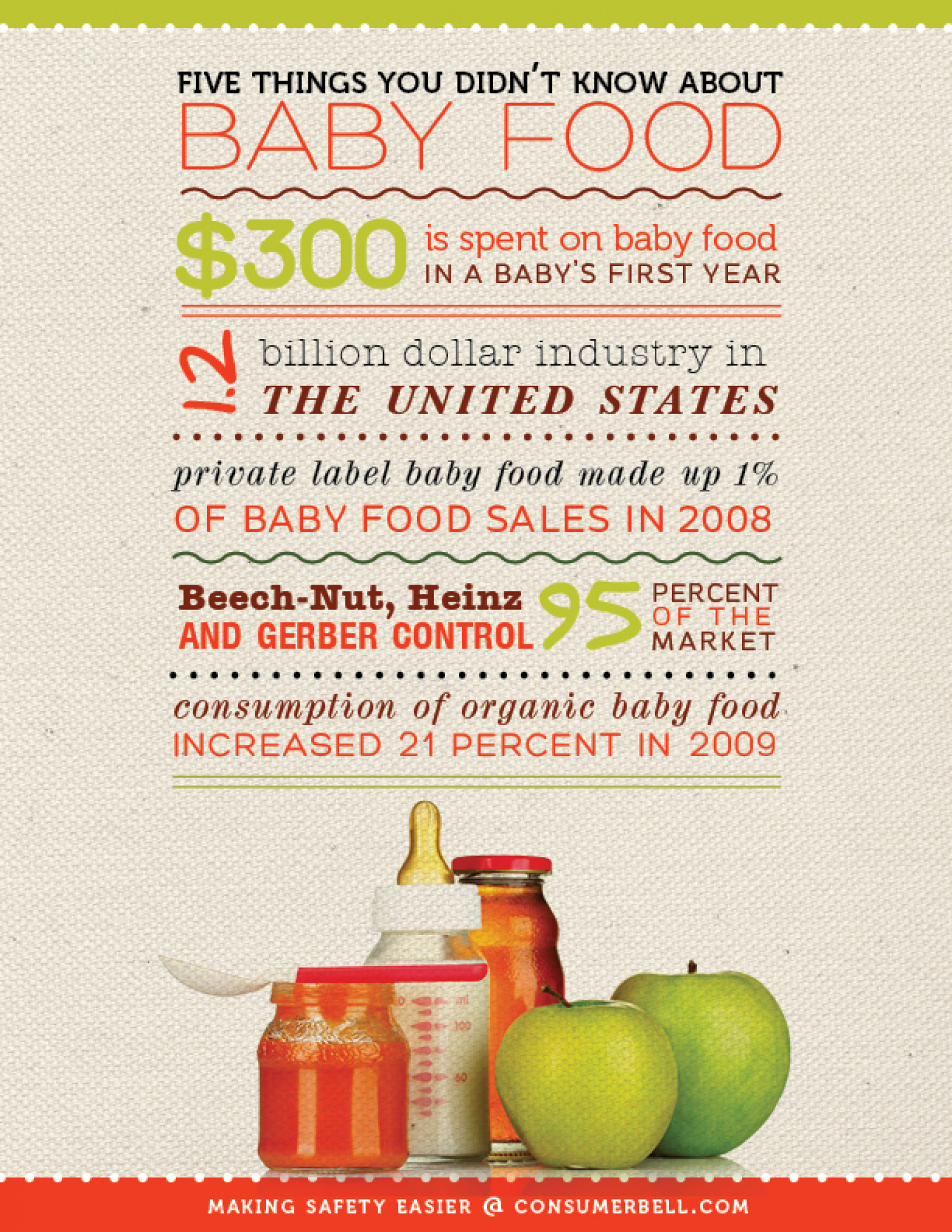 Five Things You Didn't Know About Baby Food Infographic