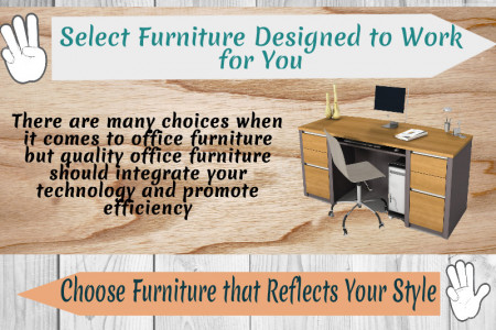 Five Tips for Selecting the Perfect Office Furniture Infographic