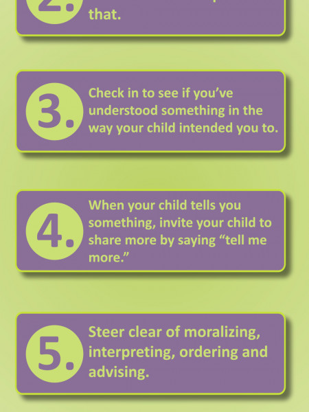 Five Ways to Show Your Children You Are Listening to Them Infographic