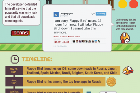 Flappy Bird: A legend in its own time Infographic