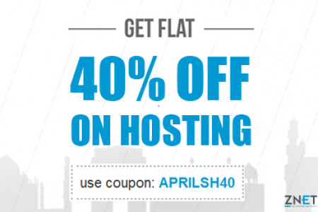 FLAT 40% OFF on Web Hosting this April at ZNetLive! Infographic