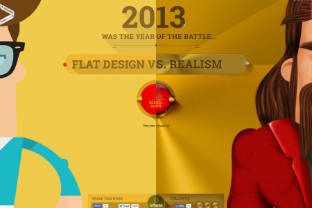 Flat Design vs Realism Infographic