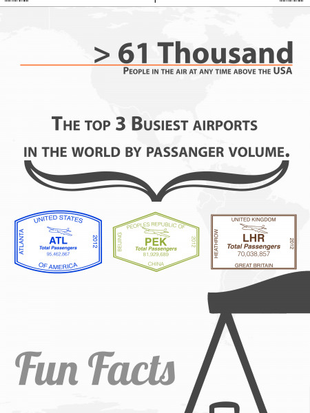 Travel By Air Infographic