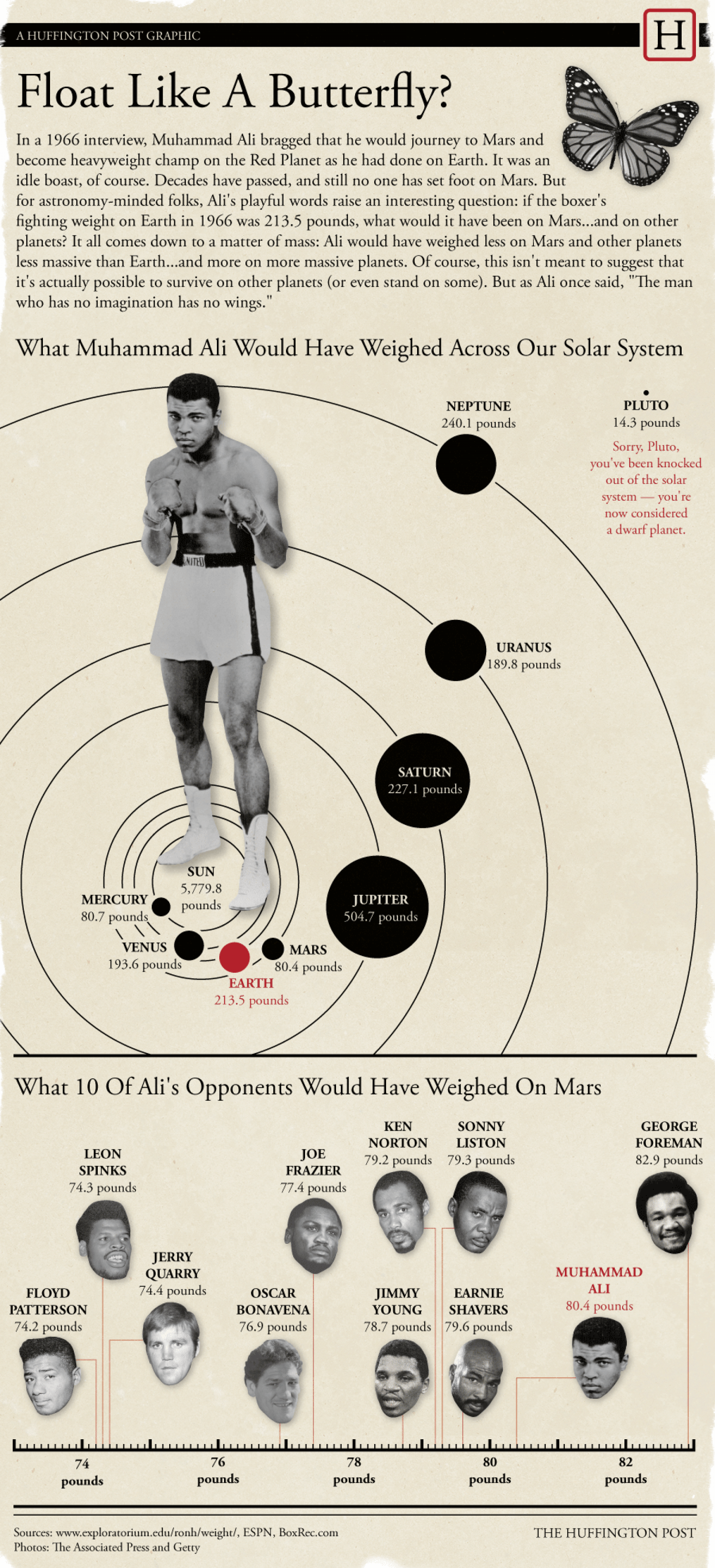 Float Like A Butterfly? Infographic