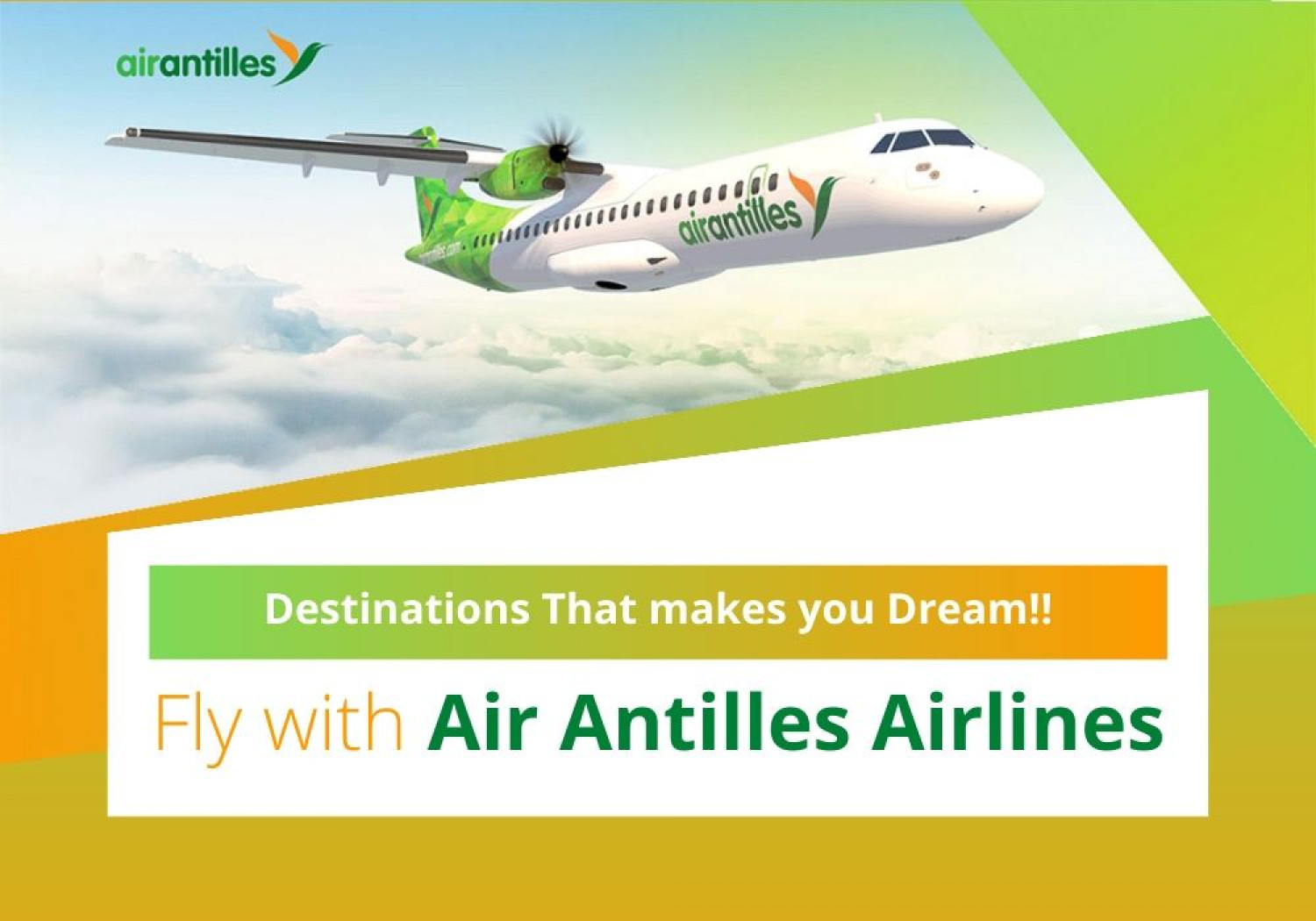 Fly with Air Antilles Infographic