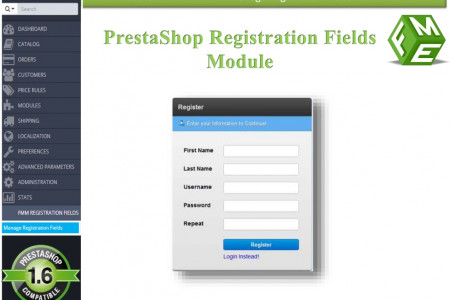 FME's PrestaShop Registration Module Infographic