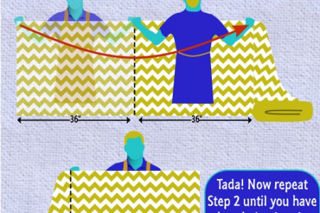Folding Fabric Like the Pros Infographic
