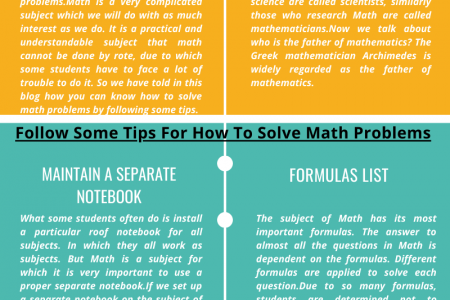 Follow Some Tips For How To Solve Math Problems Infographic