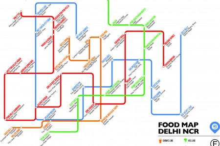 Food Map Of Delhi Infographic