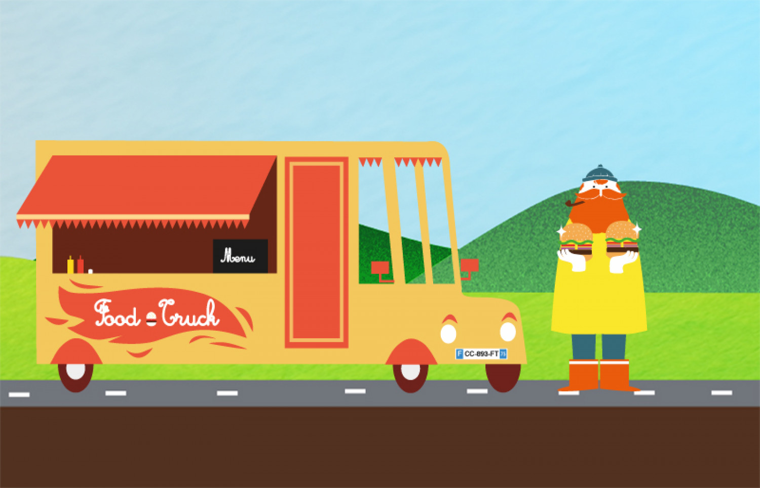 Food trucks in France Infographic