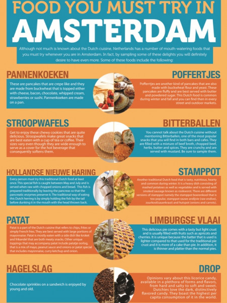Food You Must Try in Amsterdam Infographic