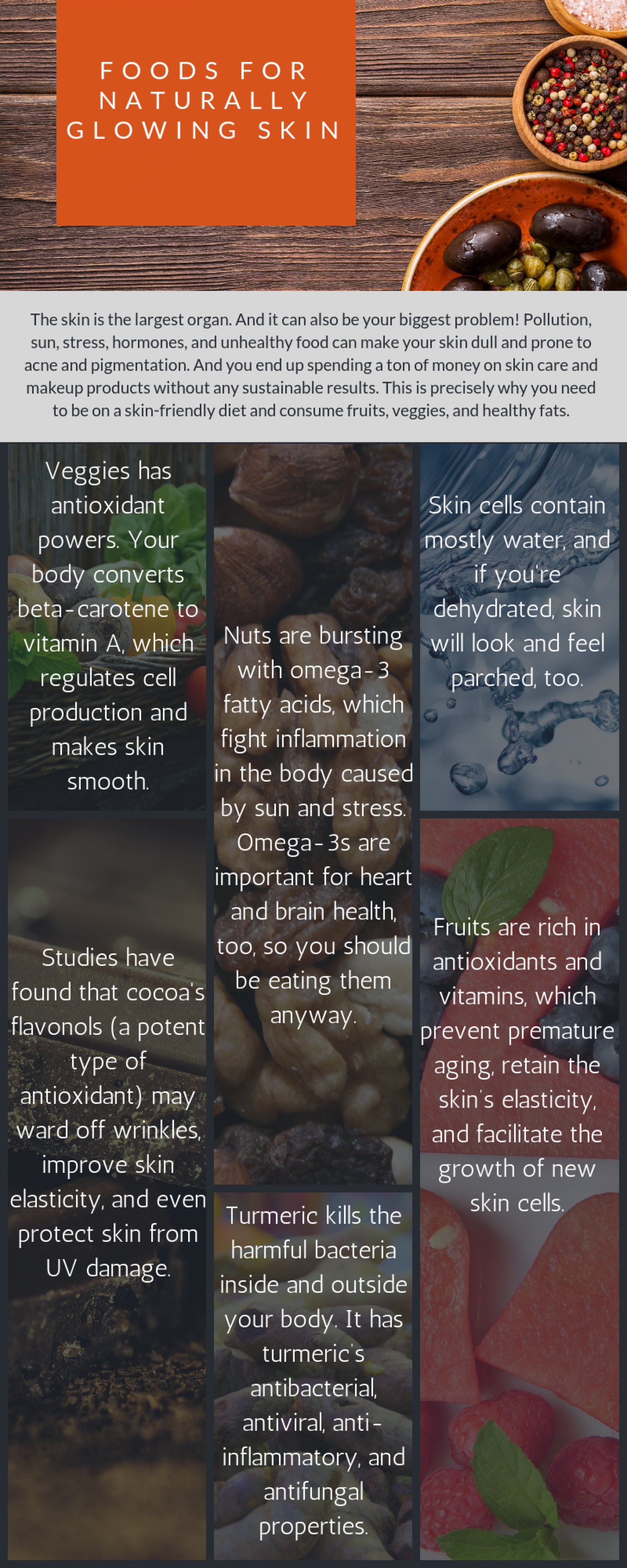 Foods for Glowing Skin Infographic